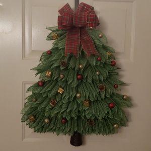 Handmade Christmas Tree Wreath,Door Wreath,Wall